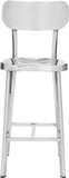 Zuo Modern 100302 Winter Counter Chair Color Polished Stainless Steel Polished Stainless Steel Finish - Set of 2 - BarstoolDirect.com - 3