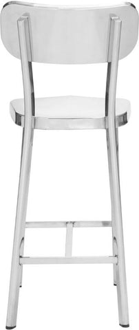 Zuo Modern 100302 Winter Counter Chair Color Polished Stainless Steel Polished Stainless Steel Finish - Set of 2 - BarstoolDirect.com - 4