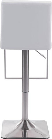 Zuo Modern 100311 Puma Bar Chair Color White Brushed Steel Finish - BarstoolDirect.com - 4