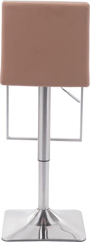 Zuo Modern 100312 Puma Bar Chair Color Taupe Brushed Steel Finish - BarstoolDirect.com - 4