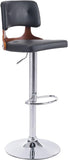 Zuo Modern 100317 Lynx Bar Chair Color Black Chromed Steel Finish - BarstoolDirect.com - 1