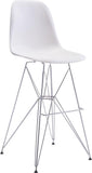 Zuo Modern 100323 Zip Bar Chair Color White Chromed Steel Finish - BarstoolDirect.com - 1