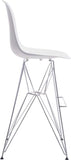 Zuo Modern 100323 Zip Bar Chair Color White Chromed Steel Finish - BarstoolDirect.com - 2