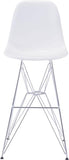 Zuo Modern 100323 Zip Bar Chair Color White Chromed Steel Finish - BarstoolDirect.com - 3