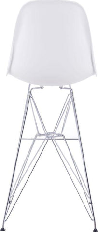 Zuo Modern 100323 Zip Bar Chair Color White Chromed Steel Finish - BarstoolDirect.com - 4