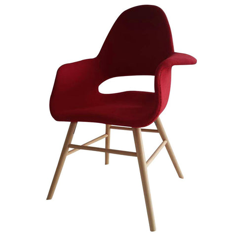 Fine Mod Imports FMI10033-red Eero Dining Chair, Red - Peazz.com - 1