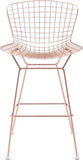 Zuo Modern 100362 Wire Bar Chair Color Rose Gold Chromed Steel Finish - Set of 2 - BarstoolDirect.com - 3