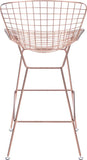 Zuo Modern 100362 Wire Bar Chair Color Rose Gold Chromed Steel Finish - Set of 2 - BarstoolDirect.com - 4