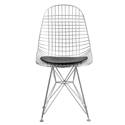 Fine Mod Imports FMI10036-black Eiffel Dining Chair, Black - Peazz.com