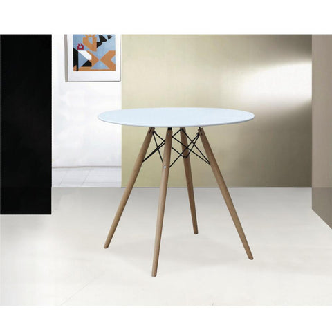 "Fine Mod Imports FMI10039-36-white WoodLeg Dining Table 36"" Fiberglass Top, White - Peazz.com - 7"