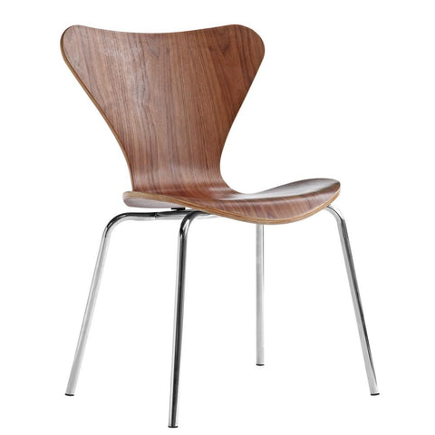 Fine Mod Imports FMI10050-walnut Jays Dining Chair, Walnut - Peazz.com - 1