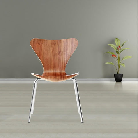 Fine Mod Imports FMI10050-walnut Jays Dining Chair, Walnut - Peazz.com - 7