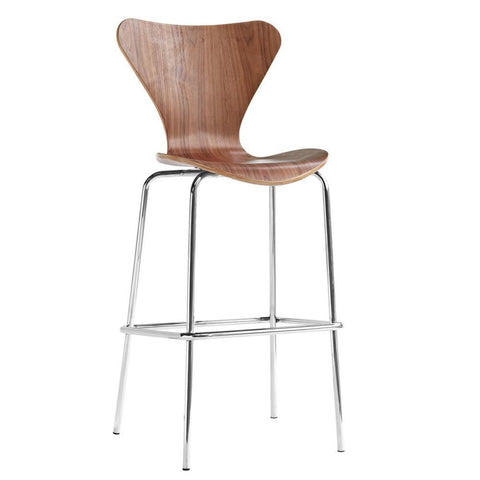 Fine Mod Imports FMI10052-walnut Jays Bar Stool, Walnut - Peazz Furniture - 1