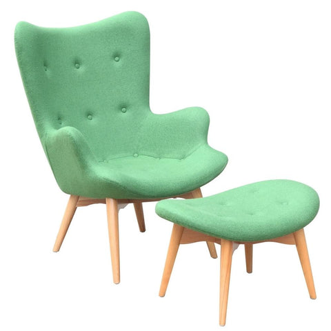 Fine Mod Imports FMI1005-green Grant Featherston Style Contour Lounge Set, Green - Peazz.com - 1