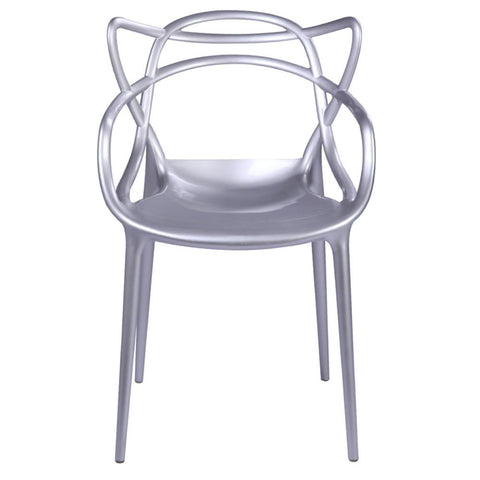 Fine Mod Imports FMI10067-silver Brand Name Dining Chair, Silver - Peazz.com - 1