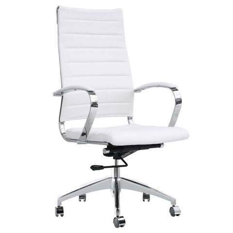 Fine Mod Imports FMI10078-white Sopada Conference Office Chair High Back, White - Peazz.com - 1