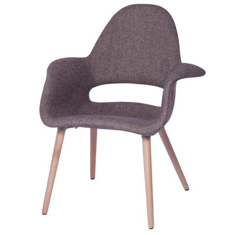 Fine Mod Imports FMI10086-brown Forza Dining Chair, Brown - Peazz.com - 1
