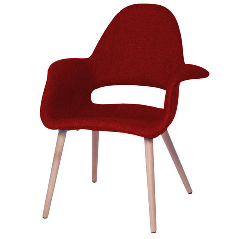 Fine Mod Imports FMI10086-red Forza Dining Chair, Red - Peazz.com