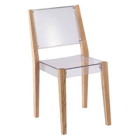 Fine Mod Imports FMI10094-natural Lhosta Dining Side Chair, Natural - Peazz.com - 1