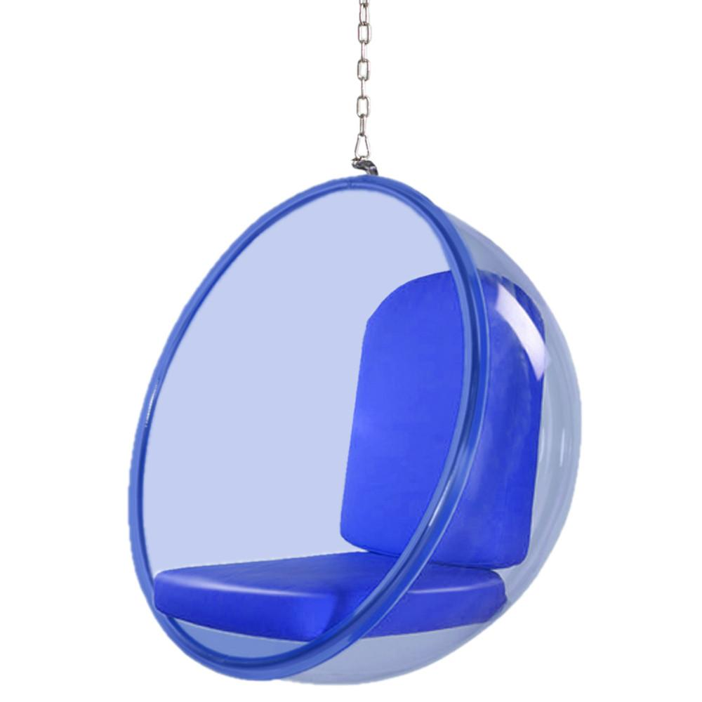 Fine Mod Imports FMI10152-blue Bubble Hanging Chair Blue Acrylic, Blue