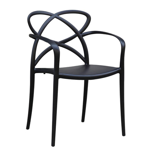 Fine Mod Imports FMI10157-black Script Dining Chair, Black - Peazz.com - 1