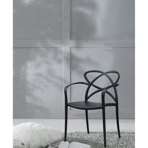 Fine Mod Imports FMI10157-black Script Dining Chair, Black - Peazz.com - 7