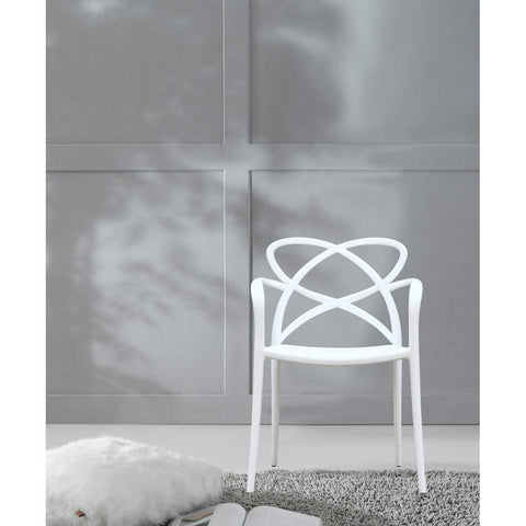 Fine Mod Imports FMI10157-white Script Dining Chair, White - Peazz.com - 7