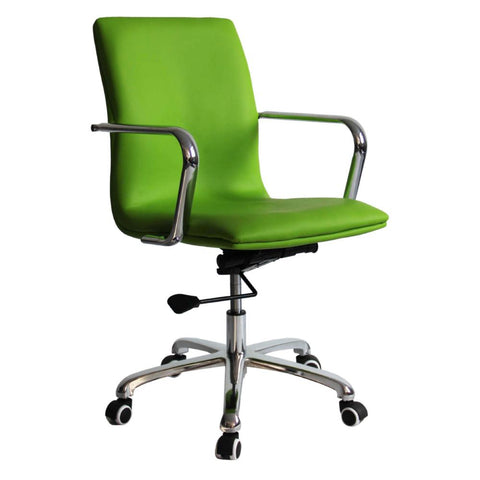 Fine Mod Imports FMI10170-green Confreto Conference Office Chair Mid Back, Green - Peazz.com - 1