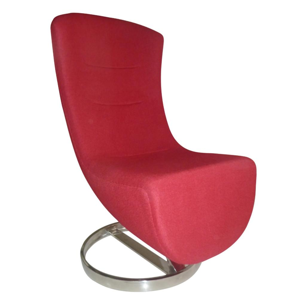 Fine Mod Imports FMI10172-red Lay Lounge Chair, Red