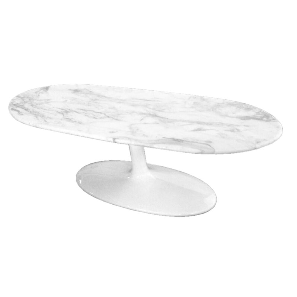 Fine Mod Marble Coffee Table White 7450