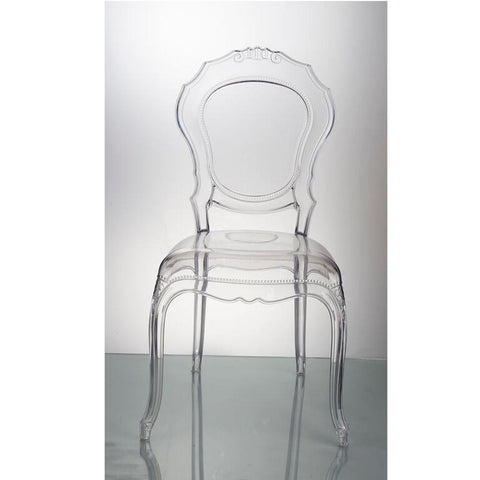 Fine Mod Imports FMI10201-clear Traditional Dining Chair, Clear - Peazz.com - 3