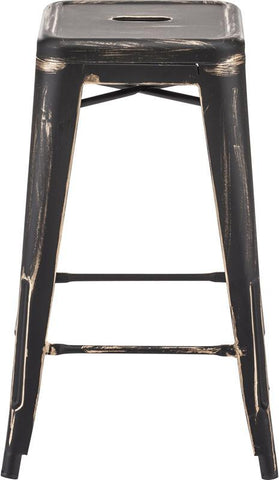 Zuo Modern 106112 Marius Counter Stool Color Antique Black Gold Steel Finish - Set of 2 - BarstoolDirect.com - 2