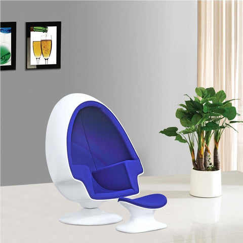 Fine Mod Imports FMI1113-blue Alpha Egg Chair and Ottoman, Blue - Peazz.com - 7