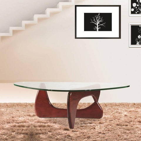 Fine Mod Imports FMI1119-cherry Tribeca Coffee Table, Cherry - Peazz.com - 2