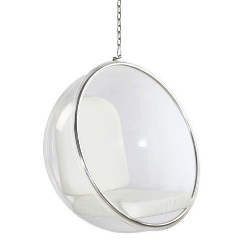 Fine Mod Imports FMI1122-white Bubble Hanging Chair, White - Peazz.com - 1