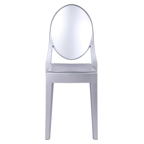 Fine Mod Imports FMI1127-silver Clear Side Chair, Silver - Peazz.com - 6
