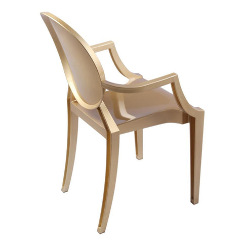 Fine Mod Imports FMI1130-gold Clear Arm Chair, Gold - Peazz.com - 7