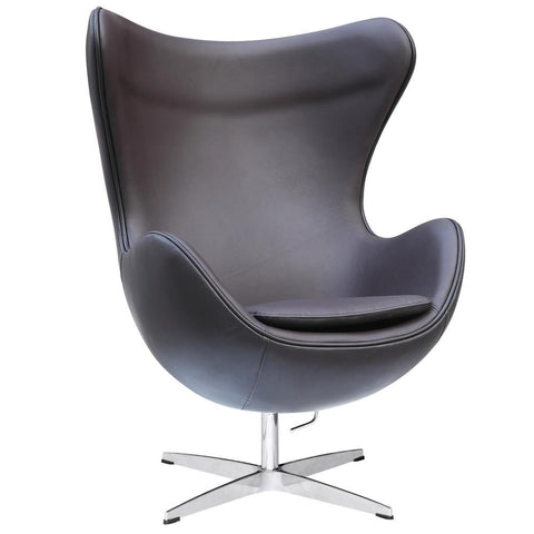 Fine Mod Imports FMI1131-dkbrown Inner Chair Leather, Brown - Peazz.com - 1