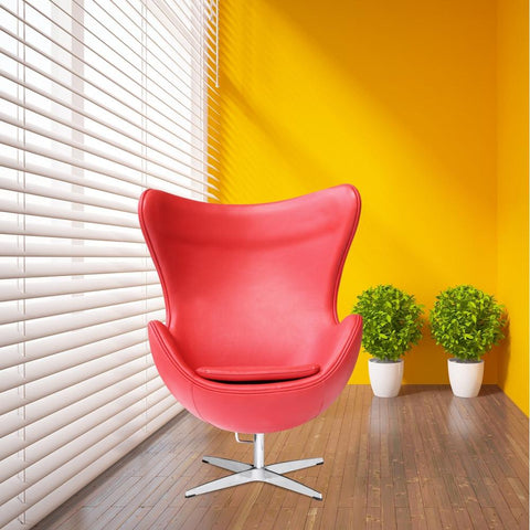 Fine Mod Imports FMI1131-red Inner Chair Leather, Red - Peazz.com - 7