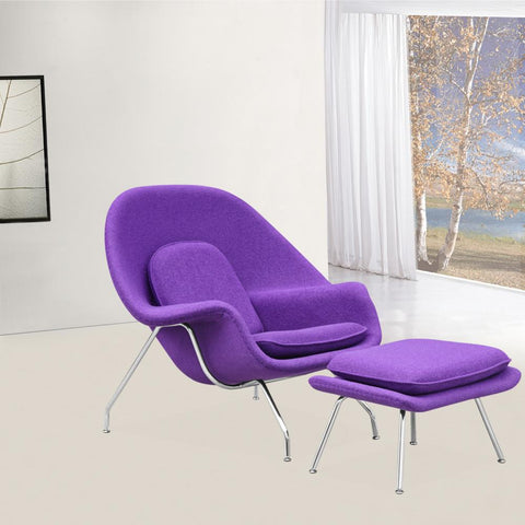 Fine Mod Imports FMI1134-purple Woom Chair and Ottoman, Purple - Peazz.com - 7
