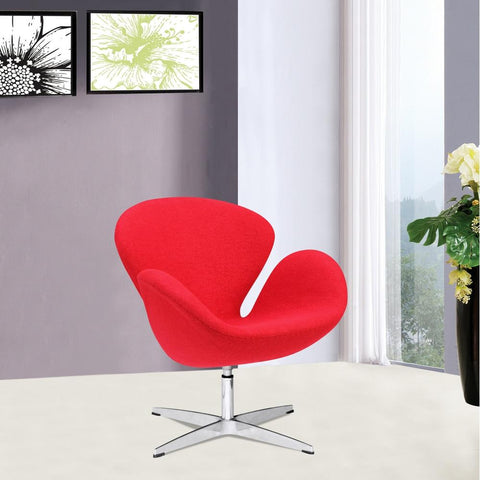 Fine Mod Imports FMI1140-red Swan Chair Fabric, Red - Peazz.com - 7