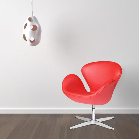 Fine Mod Imports FMI1144-red Swan Chair Leather, Red - Peazz.com - 7
