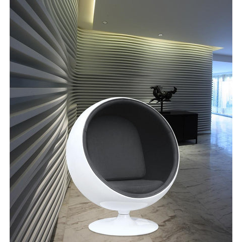 Fine Mod Imports FMI1150-black Ball Chair, Black - Peazz.com - 7