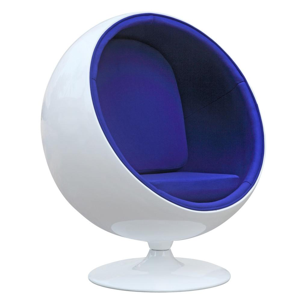 Fine Mod Imports FMI1150-blue Ball Chair, Blue - from $1003.50