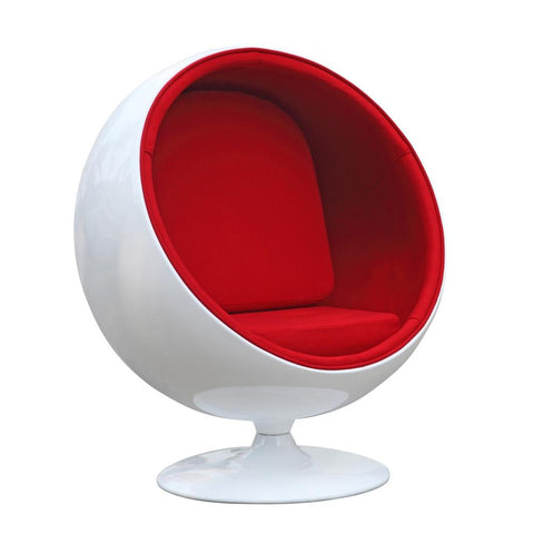 Fine Mod Imports FMI1150-red Ball Chair, Red - Peazz.com - 1