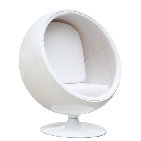Fine Mod Imports FMI1150-white Ball Chair, White - Peazz.com - 1