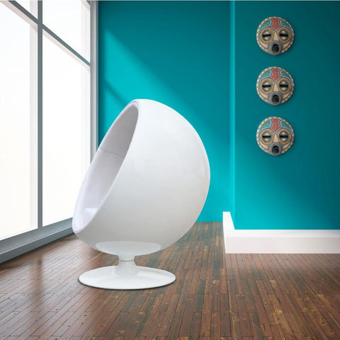 Fine Mod Imports FMI1150-white Ball Chair, White - Peazz.com - 7