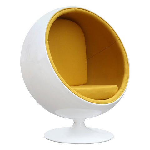 Fine Mod Imports FMI1150-yellow Ball Chair, Yellow - Peazz.com - 1