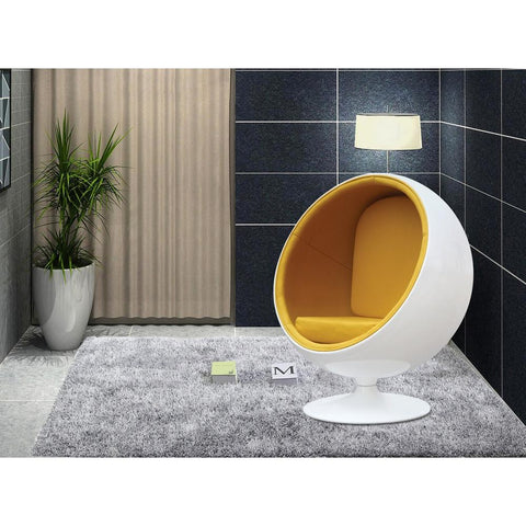 Fine Mod Imports FMI1150-yellow Ball Chair, Yellow - Peazz.com - 7