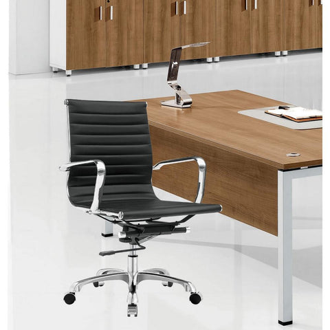 Fine Mod Imports FMI1160-black Modern Conference Office Chair Mid Back, Black - Peazz.com - 7